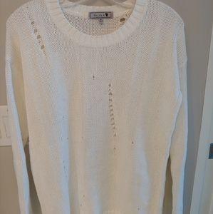 EUC Aritzia Talula distressed cotton/linen sweater
